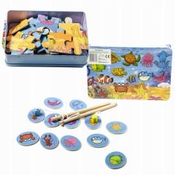 Gra drewniana łowienie rybek, puzzle 033369