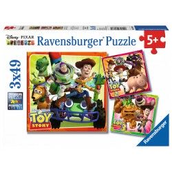 080380 PUZZLE RAVENSBURGER 3X49 TOY STORY 4