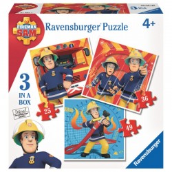 070657 PUZZLE RAVENSBURGER STRAŻAK SAM 3W1