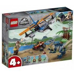 75942 LEGO® JURASSIC WORLD WELOCIRAPTOR NA RATUNEK DWUPŁATOWCEM
