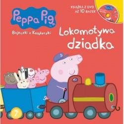 943920 KSIĄŻECZKA + DVD ŚWINKA PEPPA LOKOMOTYWA DZIADKA