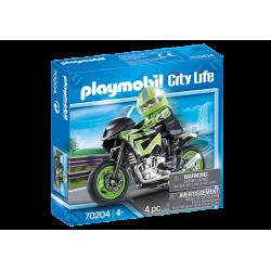 70204 PLAYMOBIL CITY LIVE WYCIECZKA MOTOCYKLISTY