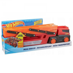 GHR48 HOT WHEELS MEGA TRANSPORTER LAWETA NA 50 AUT