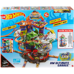 GJL14 HOT WHEELS ZESTAW MEGA GARAŻ PARKING T-REXA