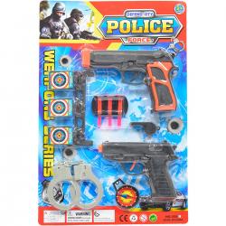 610178 ZESTAW POLICYJNY PISTOLET NA STRZAŁKI KAJDANKI
