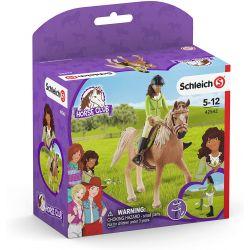 42542 SCHLEICH HORSE CLUB FIGURKI SARAH & MYSTERY KOŃ
