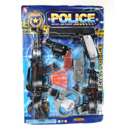 011301 ZESTAW POLICYJNY POLICJA PISTOLET KAJDANKI