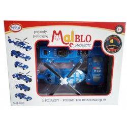 0316 MALBLO KLOCKI MAGNETYCZNE POJAZDY BUDOWLANE