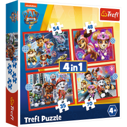 34374 TREFL PUZZLE PSI PATROL 4W1