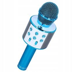 112198 MIKROFON KARAOKE Z NAGRYWANIEM USB BLUE