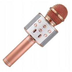 112198 MIKROFON KARAOKE USB ZŁOTO-RÓŻOWY